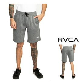 RVCA 【 ルーカ 】【 RVCA SPORT SIDELINE 】メンズ・ロゴ・スウェットショーツ定番 ロゴ ジム トレーニングcolor【 HGR 】グレー