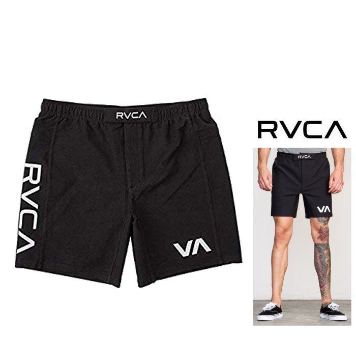 "RVCA 【 ルーカ 】【 RVCA SPORT SCRAPPER 2 19"" ファイトショーツ 】メンズ・ロゴ・スウェットショーツ定番 ロゴ ジム トレーニングcolor【 BLK 】ブラック"