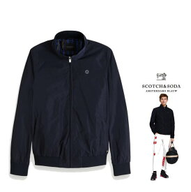 SCOTCH&SODA 【 スコッチ&ソーダ 】【 Nylon Harrington Jacket 】ハリントン・ジップ・ナイロンジャケットcolor:【 Navy 】ネイビー