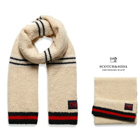 SCOTCH&SODA【 スコッチ&ソーダ 】152841 Teddy Knit ScarfWOOL・ストールcolor:【 OFF WHITE 】オフホワイト