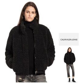 Calvin Klein JEANS【 カルバンクライン・ジーンズ 】BOA POLAR JACKETショート丈・ボアジャケットcolor:【 BLACK 】ブラック