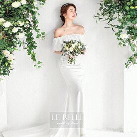 ウェディングドレス  マーメードドレス 撮影 挙式 結婚式 花嫁 ドレス 2次会  S M L ビーチ ハネムーン フィッシュテール