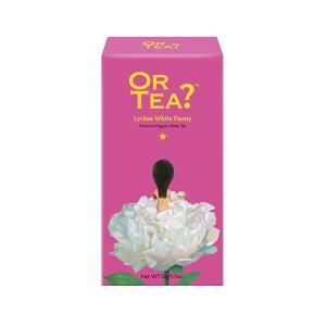 OR TEA? オアティー 100%オーガニック 【ライチホワイトピオニー】 箱入り 缶用レフィル 白茶 白牡丹茶 ホワイトティー 中国茶 オーガニックティー 可愛い かわいい おしゃれ ギフト プレゼン