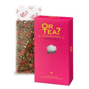 OR TEA? オアティー 100%オーガニック ライチホワイトピオニー 缶用レフィル 袋入り 有機白茶 白茶 ホワイトティー 美容 美容茶 オーガニック オーガニックティー 天然香料