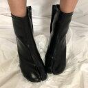 【送料無料】 ブーツ 足袋ブーツ タビ ショートブーツ ミドルブーツ レザー 足袋 TABIブーツ TABI 【orubia オルビア】
