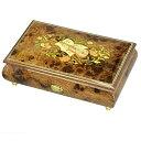 【お名入れ無料】30弁高級イタリア象嵌宝石箱 茶色(楽器のデザイン)取り寄せ オルゴール【プレゼント】