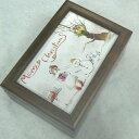 【お名入れ無料】クリスマス用 30弁蓋ガラス(写真入れ)ウォールナットオルゴール 開閉ストッパー 曲目選択 【クリスマス ギフトオル…