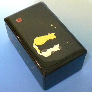 会津塗り小30弁黒ネコ
