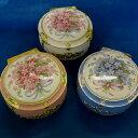 陶板(花束/丸型)アンチモニー小物入れ(3色)オルゴ-ル♪ プレゼントトオルゴール