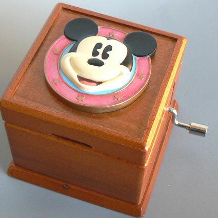 ディズニー手回オルゴール ミッキー ♪ミッキーマウスマーチ♪【オルゴールギフト/誕生日・クリスマス・記念日】 プレゼント