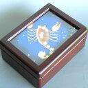 333曲以上から選べる! 誕生日の星座(イラスト)/小物入れオルゴール(蓋ガラス)宝石箱【18弁曲目選択オルゴール】誕生日プレゼントオ…
