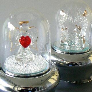 光ドームオルゴール(天使とハート/ネコとハート)