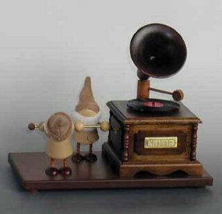 アクション小人オルゴール・蓄音機