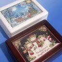 333曲以上から選べる! クリスマス用/蓋ガラス宝石箱(お子様向き その2) オルゴール ≪18弁曲目選択オルゴール≫333曲から【クリスマ…