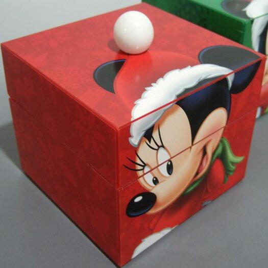 ディズニーポンポンミュージックボックス(Mr.Xmas) 赤ミニー クリスマスオルゴール プレゼント