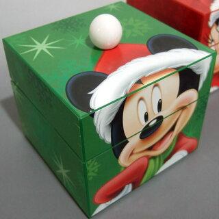 ディズニーポンポンミュージックボックス(Mr.Xmas)緑ミッキークリスマスオルゴール