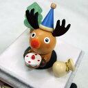 クリスマスカラクリ(ハッピープレゼント)トナカイ♪赤鼻のトナカイ 【夢の木工房】 クリスマス プレゼント