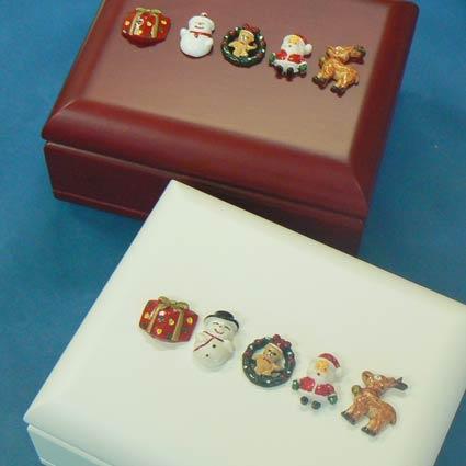 333曲以上から選べる! マイボックス宝石箱(5つのパーツ付き 内部:クリスマス飾り)クリスマスオルゴール ≪18弁曲目選択オルゴール≫ プレゼント