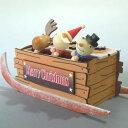 クリスマスオルゴール サンタのソリ ♪ウィーウィッシュアメリークリスマス (夢の木工房) プレゼント