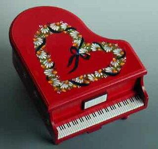 トールペイントピアノ赤ハートリース