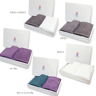TRANPARAN Imabari towel gift luxe Luc's bath towel two pieces set