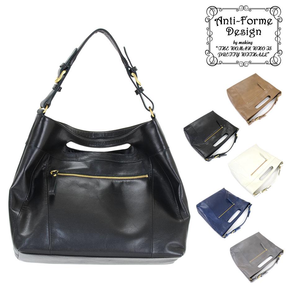 SALE【送料無料】ワンショルダーバッグ クラッチバッグ 2Wayバッグ Anti-Forme Design アンチフォルムデザイン レザーバッグ 日本製 レディース 本革バッグ