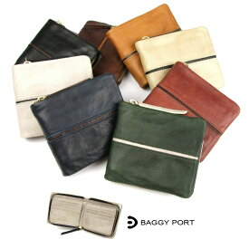 【送料無料】二つ折り財布 メンズ 本革 レザー BAGGY PORT バギーポート