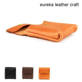 【送料無料】バネくち財布 ミニ財布 極小財布 ヌメ革 本革 日本製 eureka leathercraft ユリカレザークラフト 財布14 革財布