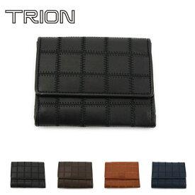 《☆》【送料無料】二つ折り財布 本革 グローブレザー TRION トライオン