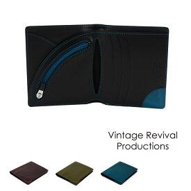 【送料無料】二つ折り財布 薄い イタリアンレザー Air Wallet エアーウォレット italian oil 本革 日本製 Vintage Revival Productions