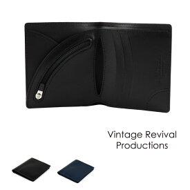 【送料無料】二つ折り財布 薄い スムースレザー Air Wallet エアーウォレット tanned leather 本革 日本製 Vintage Revival Productions