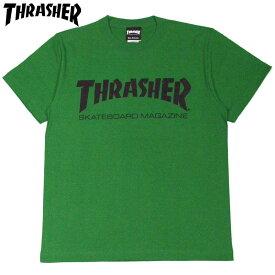 スラッシャー THRASHER MAG LOGO.TEE(グリーン GREEN/BLACK)スラッシャーTシャツ THRASHERTシャツ スラッシャーマグロゴ THRASHERマグロゴスラッシャーMAGLOGO THRASHERMAGLOGO 半袖 MAG LOGO マグロゴ
