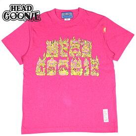 ヘッドグーニー HEADGOONIE BURNING TIKI T-shirts(ピンク TROPICAL PINK)HEADGOONIETシャツ ヘッドグーニーTシャツ HEADGOONIE半袖 ヘッドグーニー半袖 HEADGOONIEシルクスクリーン ヘッドグーニーシルクスクリーン