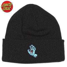 サンタクルーズ SANTA CRUZ SCREAMING HAND BEANIE(ブラック 黒 BLACK)サンタニット帽 SANTACRUZニット帽 サンタビーニー SANTACRUZビーニー サンタク帽子 SANTACRUZ帽子 スクリーミングハンド
