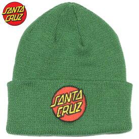 サンタクルーズ SANTA CRUZ CLASSIC DOT LONG SHOREMAN(グリーン 緑 DEEP GREEN)サンタニット帽 SANTACRUZニット帽 サンタビーニー SANTACRUZビーニー サンタ帽子 SANTACRUZ帽子 スクリーミングハンド