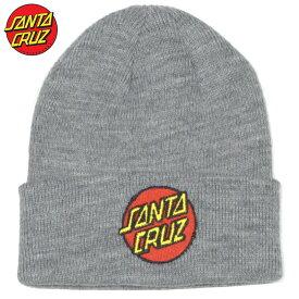 サンタクルーズ SANTA CRUZ CLASSIC DOT LONG SHOREMAN(グレー LIGHT HEATHER GRAY)サンタニット帽 SANTACRUZニット帽 サンタビーニー SANTACRUZビーニー サンタ帽子 SANTACRUZ帽子 スクリーミングハンド