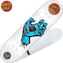 サンタクルーズ SANTA CRUZ LTD SCREAMING HAND DECK(ホワイト 白 WHITE/BLUE)サンタクルーズデッキ SANTA CRUZデッキ サンタクルーズ…