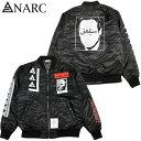送料無料 アナーク ANARC MA-1211 JK(ブラック 黒 BLACK)アナークMA-1ジャケット ANARC MA-1ジャケット アナークジャケット ANARCジャ…