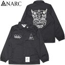 アナーク ANARC MAO SKULL COACH JK(ブラック 黒 BLACK/WHITE)アナークコーチジャケット ANARCコーチジャケット アナークジャケット AN…
