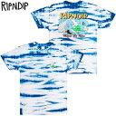 リップンディップ RIPNDIP HANG 10 TEE(BLUE/WHITE STRIPE DYE)リップンディップTシャツ RIPNDIPTシャツ リッピンディップTシャツ RIP …