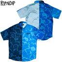 リップンディップ RIPNDIP SOHO BUTTON UP SHIRT(ブルー 青 BLUE)リップンディップ半袖シャツ RIPNDIP半袖シャツ リッピンディップ半袖…