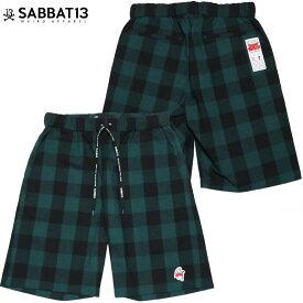 【予約受付】サバトサーティーン SABBAT13 GHOST CHECK SHORTS(グリーン 緑 GREEN)サバトサーティーンショーツ SABBAT13ショーツ サバトサーティーンボトムス SABBAT13ボトムス