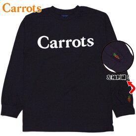 キャロッツ Carrots WORDMARK LONGSLEEVE T-Shirt(ブラック 黒 BLACK)キャロッツロングTシャツ CarrotsロングTシャツ キャロッツロンT CarrotsロンT キャロッツ長袖 Carrots長袖 carrots CARROTS