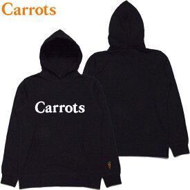 送料無料 キャロッツ Carrots WORDMARK HOODY(ブラック 黒 BLACK)キャロッツパーカ Carrotsパーカ キャロッツプルオーバー Carrotsプルオーバー carrots CARROTS