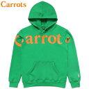 送料無料 キャロッツ Carrots WORDMARK HOODIE(グリーン 緑 GREEN)キャロッツパーカ Carrotsパーカ キャロッツプルオーバー Carrotsプ…