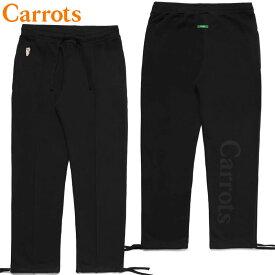 送料無料 キャロッツ Carrots SIGNATURE CARROT SWEAT PANTS(ブラック 黒 BLACK)キャロッツスウェットパンツ Carrotsスウェットパンツ キャロッツパンツ Carrotsパンツ キャロッツボトム Carrotsボトム