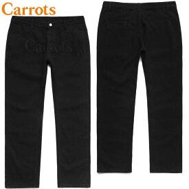 送料無料 キャロッツ Carrots WORDMARK CHINO DENIM PANTS(ブラック 黒 BLACK)キャロッツデニムパンツ Carrotsデニムパンツ キャロッツパンツ Carrotsパンツ キャロッツボトム Carrotsボトム