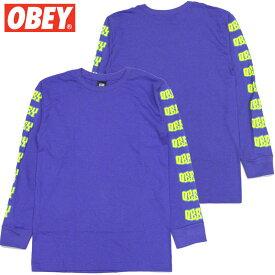 オベイ OBEY BETTER DAYS BASIC LONGSLEEVE TEES(パープル 紫 PURPLE)オベイロンT OBEYロンT オベイロングTシャツ OBEYロングTシャツ オベイ長袖 OBEY長袖