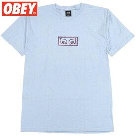 オベイ OBEY OBEY EYES BASIC TEES(POWDER BLUE)オベイTシャツ OBEYTシャツ オベイ半袖 OBEY半袖