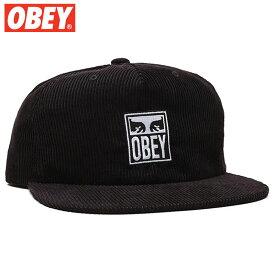 オベイ OBEY VANISH SNAPBACK(ブラック 黒 BLACK)オベイキャップ OBEYキャップ オベイ帽子 OBEY帽子 オベイスナップバック OBEYスナップバック